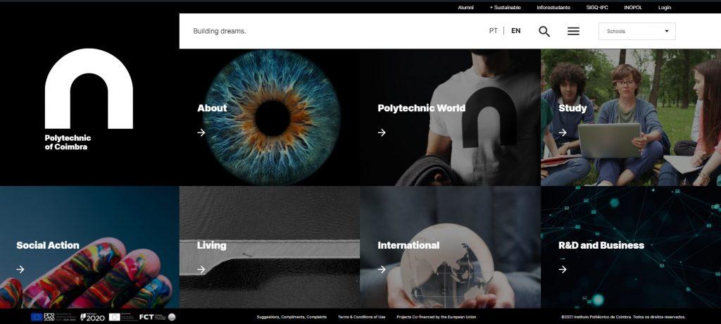 Politécnico de Coimbra apresenta website com versão na língua inglesa